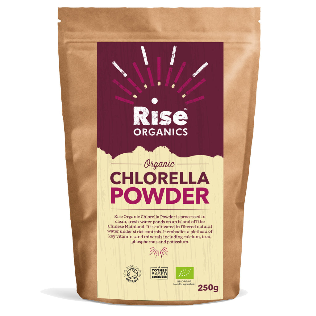 Rise Organics Chlorella Powder 250g - Soil Association certified Organic