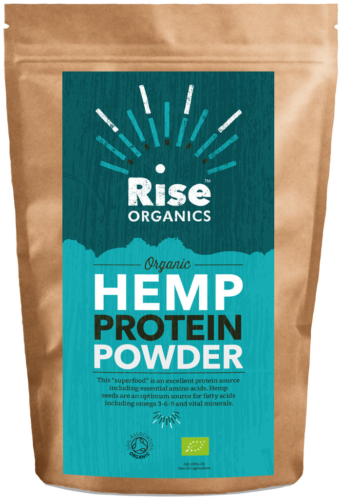 Rise Organic Raw Hemp Protein Powder 500g | High quality Protein