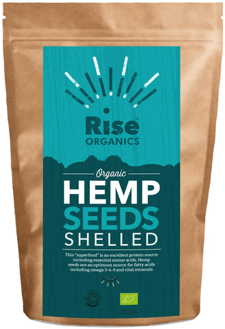 Rise Organic Raw Shelled Hemp Seeds 500g