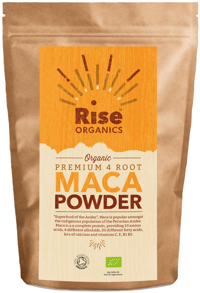 Rise Organic Raw Maca Powder 500g, Premium 4 Root