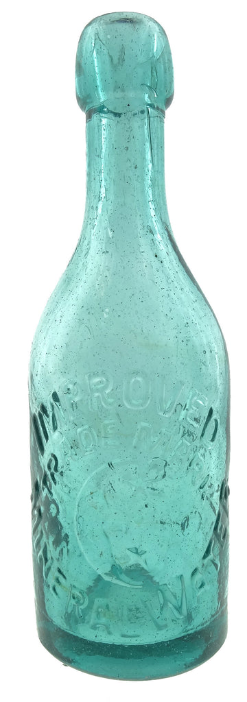 C.A. REINER'S & CO. SAN FRANCISCO IMPROVED MINERAL WATER TRADE MARK with embossed crescent moon.