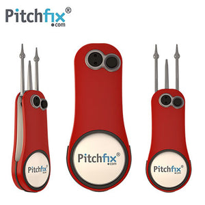 Pitchfix Fusion 2.0 Golf Divot Tool with Ball Marker and Pencil Sharpener - abrandz
