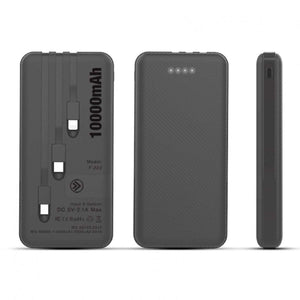 10000mAh Powerbank with 3 Built-in Cables