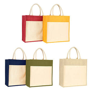 Eco Friendly Canvas Jute Tote Bag - abrandz