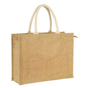 Eco Friendly Jute Tote Bag with Zip