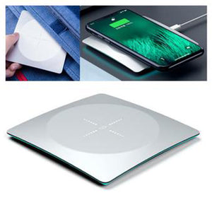 Alloy Super Thin Wireless Charger With Led Light - abrandz