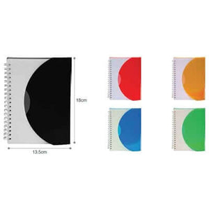 A5 Size Plastic Cover Notebook