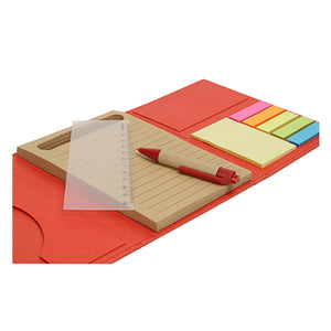 Eco Notebook with Post it note and Pen