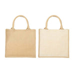 Eco Friendly Square Jute Bag - AbrandZ Corporate Gifts Singapore
