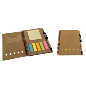 Eco friendly notebook with colored tab sticker - abrandz