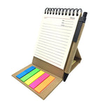 Eco Wire-O Notebook with post it note and pen