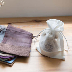 Eco Friendly Jute Accessories Pouch with Netting | AbrandZ Corporate Gifts Singapore
