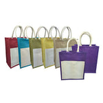Eco Friendly A4 Jute Tote Bag with Canvas Pocket - AbrandZ Corporate Gifts Singapore