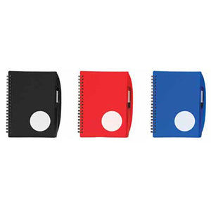 Circle Plastic Cover Notebook with Pen