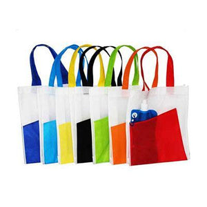 2-Tone Eco Bag (White) | Corporate Gifts Singapore