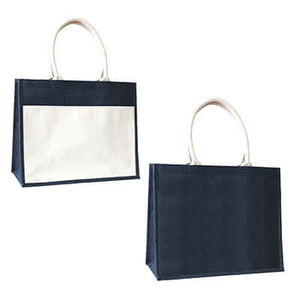 Eco Friendly A3 Jute Tote Bag with Canvas Pocket - abrandz