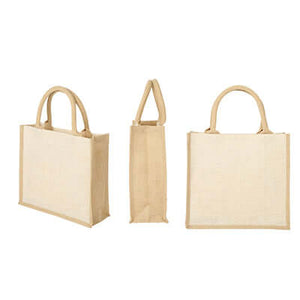 Eco Friendly Square Jute Bag | AbrandZ Corporate Gifts Singapore