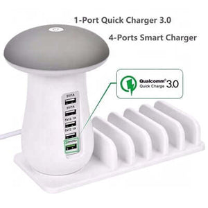 5 Port Quick Charger with Night Lamp
