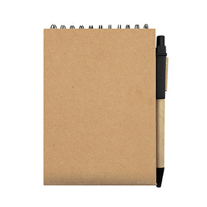Eco Wire-O Notebook with post it note and pen - AbrandZ Corporate Gifts Singapore