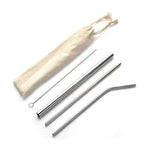 4 Pieces Stainless Steel Straw Set | Cutlery, Eco Friendly | lifestyle | AbrandZ: Corporate Gifts Singapore