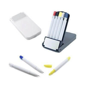 5 in 1 Pen Set | Highlighter, Pencil, Promotional Pens | Stationery | AbrandZ: Corporate Gifts Singapore
