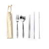5 Pieces Stainless Steel Cutlery and Straw Set