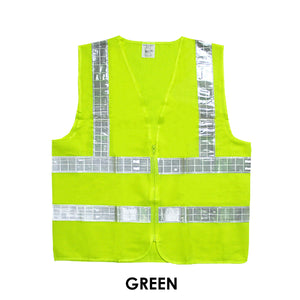SAFETY VEST WITH REFLECTIVE STRIPS