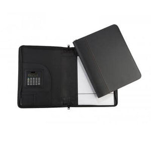 A4 PU Folder with zipping | Leather Portfolios | desk | AbrandZ: Corporate Gifts Singapore