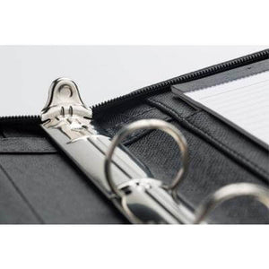 A4 PU Ring Binder Folder with Zipping - abrandz
