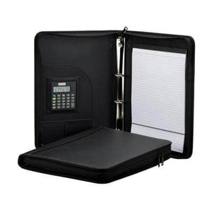 A4 PU Ring Binder Folder with Zipping | Leather Portfolios | desk | AbrandZ: Corporate Gifts Singapore