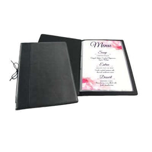 A4/A5 PU LEATHER REFILLABLE MENU HOLDER | Corporate Gifts Singapore