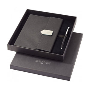Balmain Charcoal Notebook Gift Set - abrandz