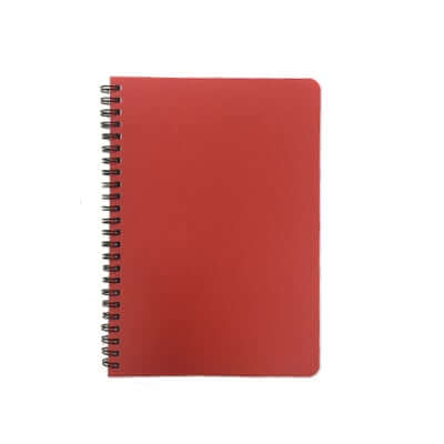 A5 Plastic Cover Wire O Notebook