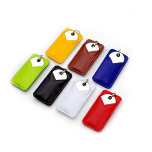 Executive Leather Rounded Key USB Drive - AbrandZ Corporate Gifts Singapore