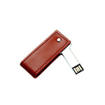 Executive Swivel Leather Key USB Drive | USB Drive | electronics | AbrandZ: Corporate Gifts Singapore