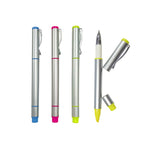 Metallic Pen with Highlighter | Highlighter, Promotional Pens | Stationery | AbrandZ: Corporate Gifts Singapore