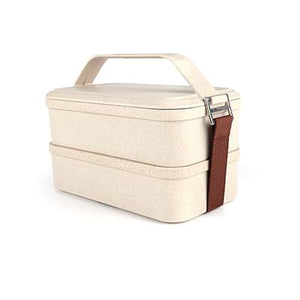 Husk Fiber 2 Tier Lunch Box | AbrandZ: Corporate Gifts Singapore