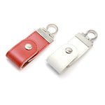 Leather Button Clasp USB Drive | USB Drive | Gadgets | AbrandZ: Corporate Gifts Singapore
