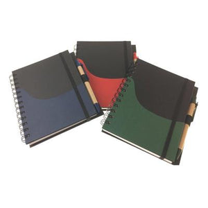 Eco Friendly Notebook with Elastic Band and Pen - abrandz