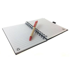 Eco Friendly Notebook with Elastic Band and Pen | Notebook and Pen Gift Set | Stationery | AbrandZ: Corporate Gifts Singapore