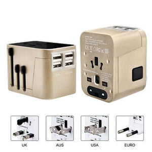 4 USB Hub Travel Adaptor | AbrandZ Corporate Gifts Singapore