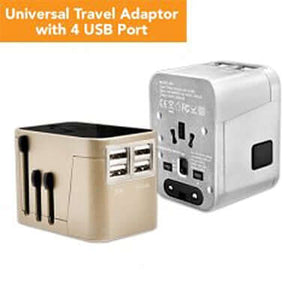 4 USB Hub Travel Adaptor - abrandz