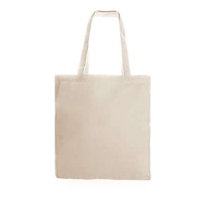 12oz Beige Canvas Tote Bag