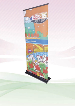 Flat Base Roll Up Banner - abrandz