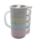 Eco Friendly Wheat Straw Jug with Coffee - AbrandZ Corporate Gifts Singapore