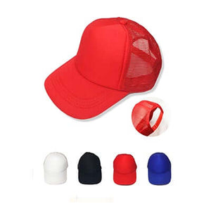 5-panel Mesh Knit Baseball Cap with plastic strap - abrandz