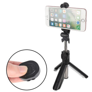 Wireless Remote Controlled Selfie Stick With Foldable Tripod Stand