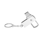 Metal Swivel USB Drive with Keychain