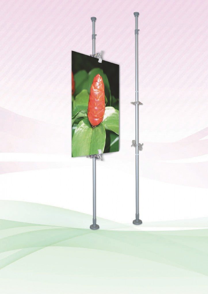 Ceiling and Floor Pole display