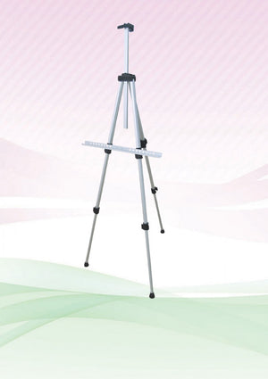 Aluminium Easel Stand (Silver) - AbrandZ Corporate Gifts Singapore